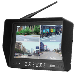 "Zone Defense® 7"" Digital LCD Monitor System with Built-in Quad #ZD.323.1.4Q"