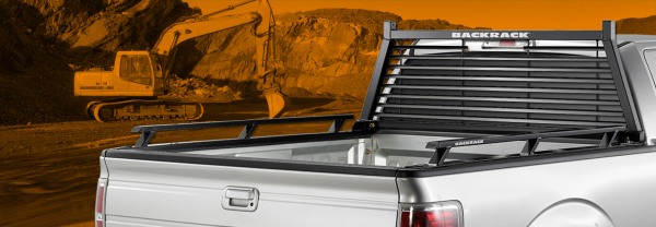 Pick up truck with Backrack truck rack and side rails