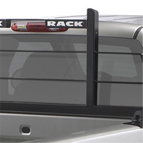 Close up image of Backrack truck rack on pick up truck