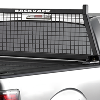 close up image of Backrack Safety Rack on pick up truck