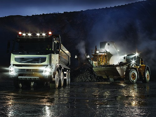 Heavy Equipment Trucks with Hamsar LED Work Lights
