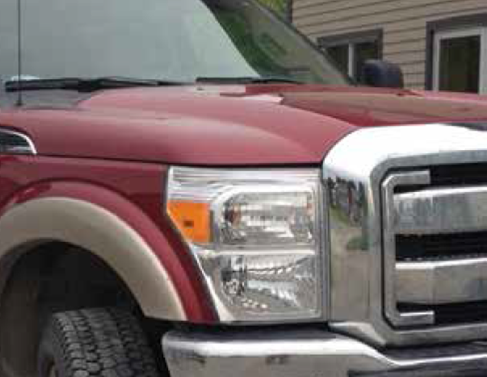 Truck with high performance halogen bulb in headlights