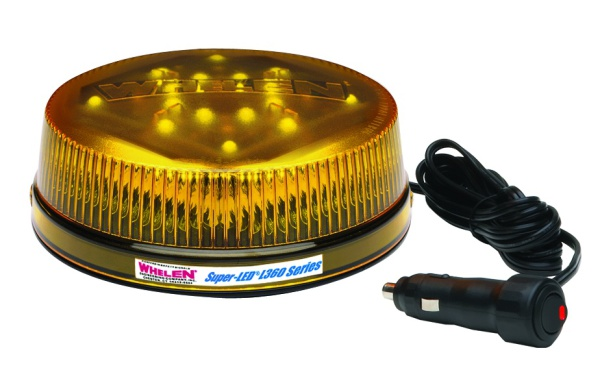 Whelen L32LAM Amber Beacon, Magnetic Mount