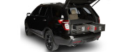 Rear view of SUV with Cargo Ease Cargo Locker