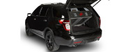 Black SUV with Cargo Ease Cargo Locker