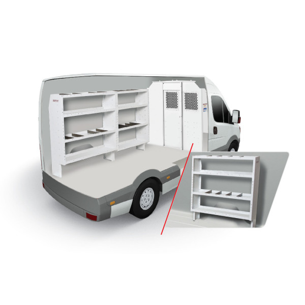 Layout Diagram to Weather Guard Van Storage Solution