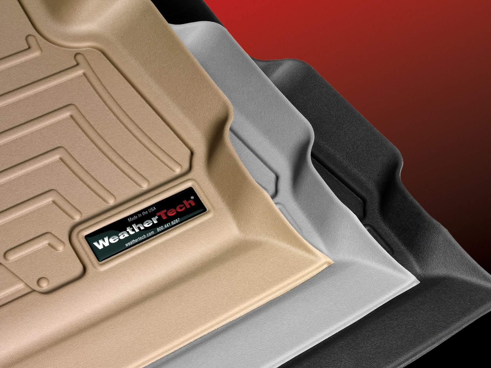 Image of WeatherTech Floor liners, tan, grey, black