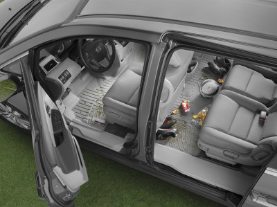 WeatherTech floor liners, front and rear, grey