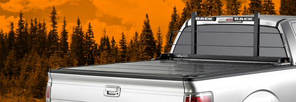 Pick up truck with Backrack truck rack and tonneau cover