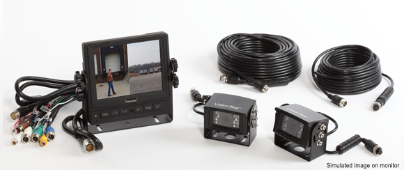 "Mobile Awareness 1130 Wired Dual Camera System with 5.6"" Monitor"