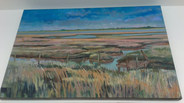 Deben estuary oil paintings by Anne Rea
