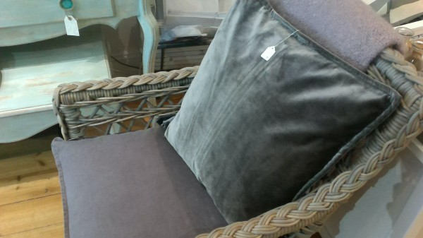 cushions and garden chairs