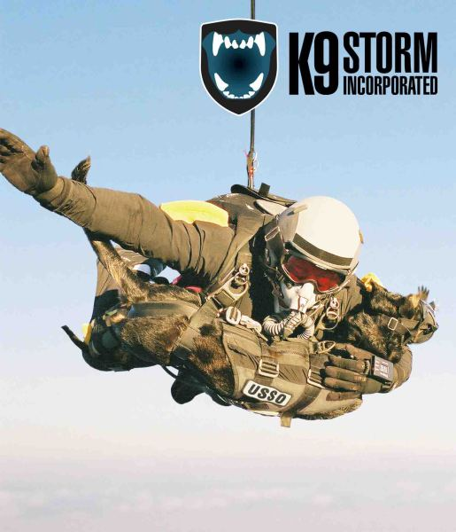 Skydiving Dog World Record with K9 Storm Aerial Insertion Vest