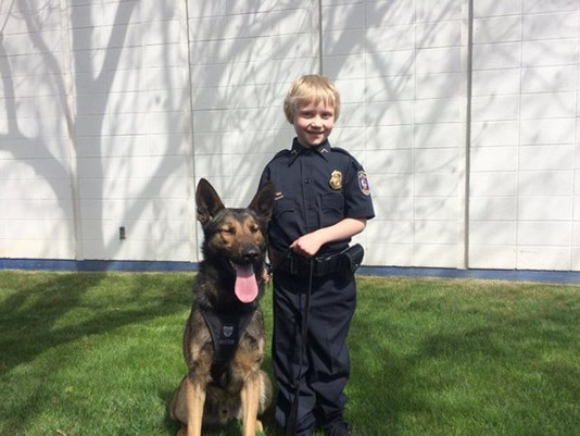 Sierra Shank with Spokane PD K9 Unit