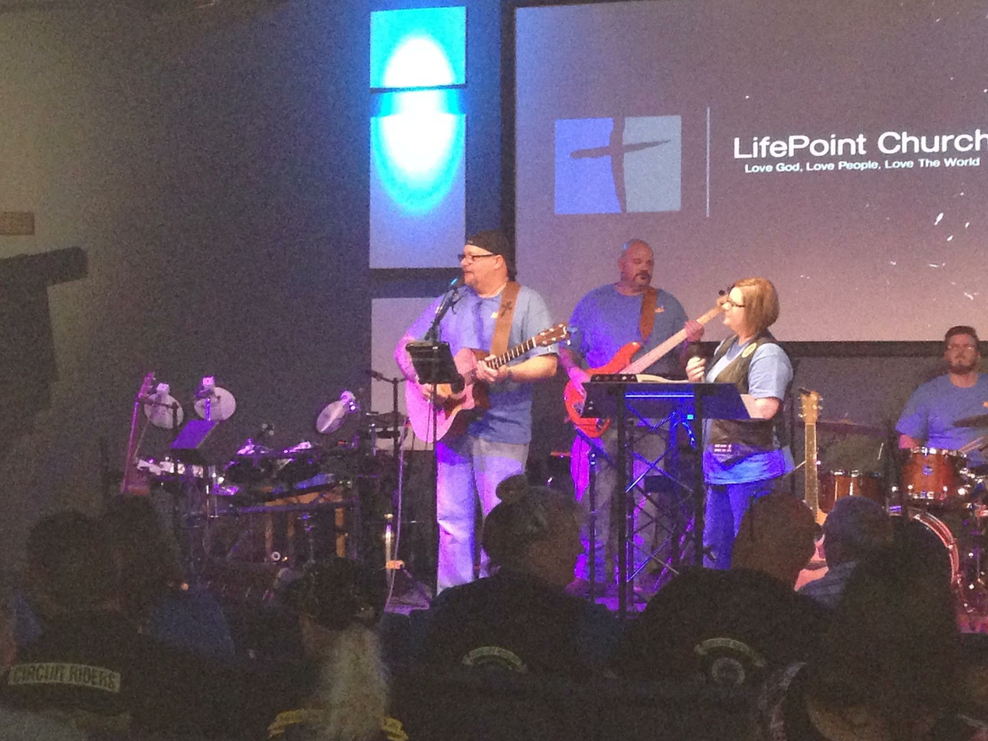 Leading Worship at LifePoint Church for Bikers Friday Night In The Light!