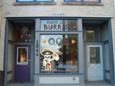 Ohio City Burrito Logo and Signage