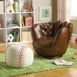 Baseball Glove and Ottoman