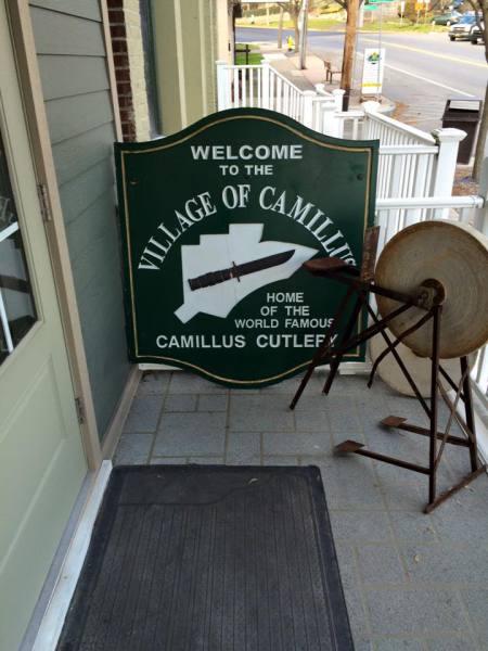 Historic Camillus Road Sign