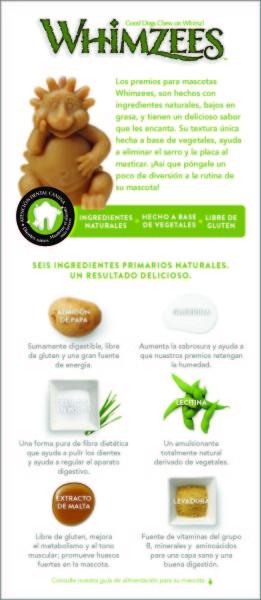 WHIMZEES Ingredient List Original Spanish Version