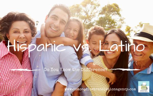 Hispanic vs. Latino