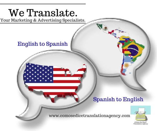 We Translate.