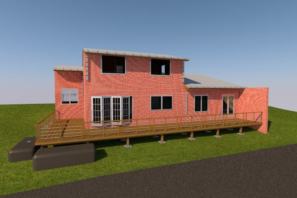 Brick veneer house