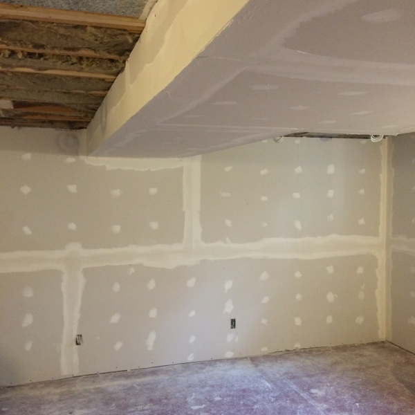 Basement drywall and Mud