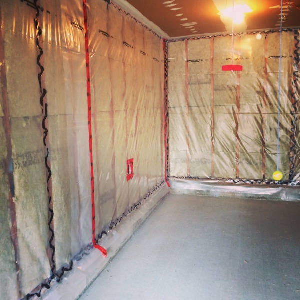 Insulated, moisture proofed and drywalled garage.