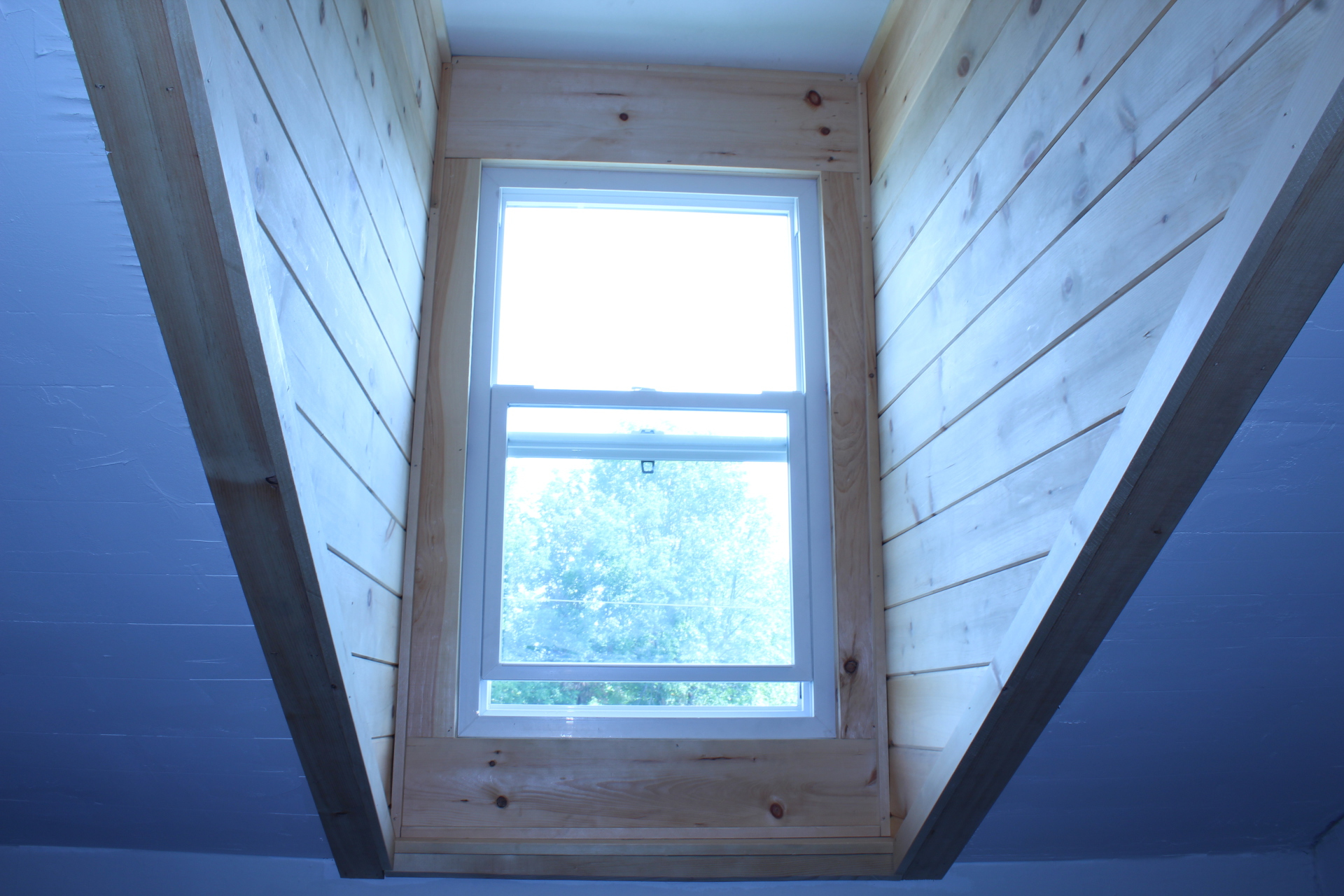 Tongue and Groove Pine finish inside dormers