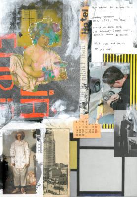 Hotel América, 2017.  30 x 40 cm. Mixed Media / colagem e tinta acrílica