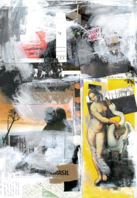 Censura, 2017.  30 x 40 cm. Mixed Media / colagem e tinta acrílica