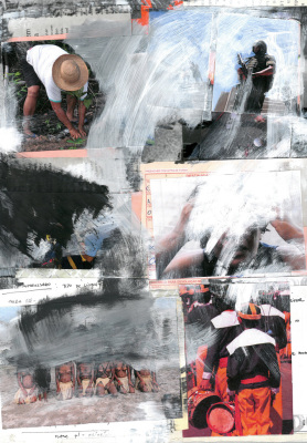 Congada, 2017.  30 x 40 cm. Mixed Media / colagem e tinta acrílica