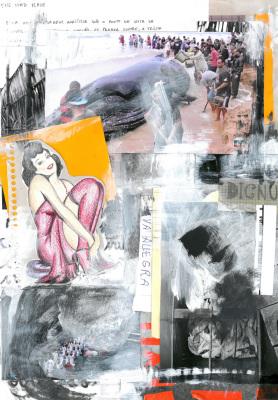 Jubarte, 2017.  30 x 40 cm. Mixed Media / colagem e tinta acrílica