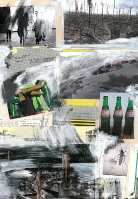 Projeto Guaraná, 2017.  30 x 40 cm. Mixed Media / colagem e tinta acrílica