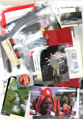 Bilhete Único, 2017.  30 x 40 cm. Mixed Media / colagem e tinta acrílica