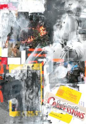 Os Comedores de Batata, 2017.  30 x 40 cm. Mixed Media / colagem e tinta acrílica