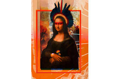 Monalisa Traduzida, 2016. 30 x 40 cm. Arte Digital / Digital Art