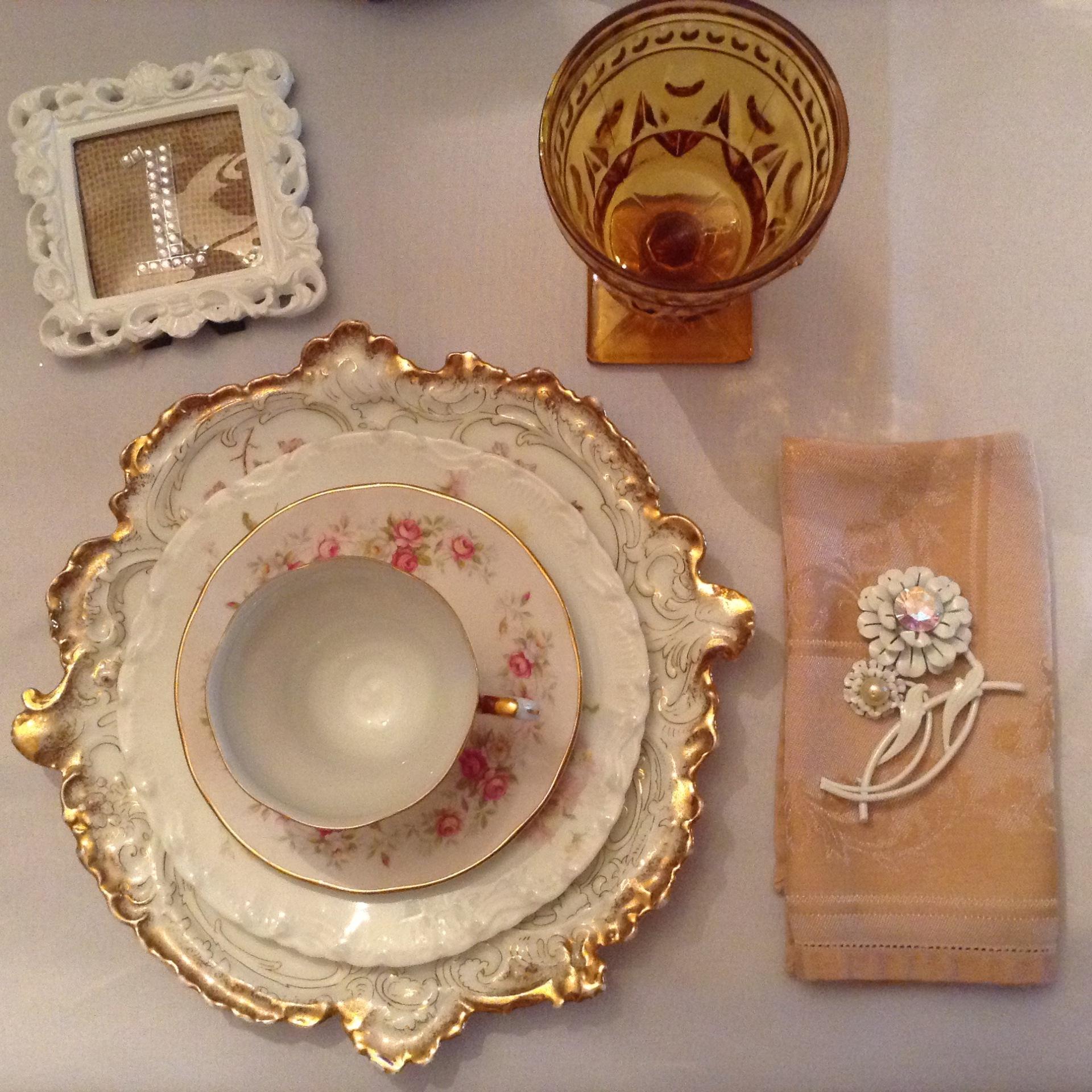 Vintage China & Goblet