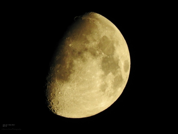 Waxing Gibbous Ascending Moon