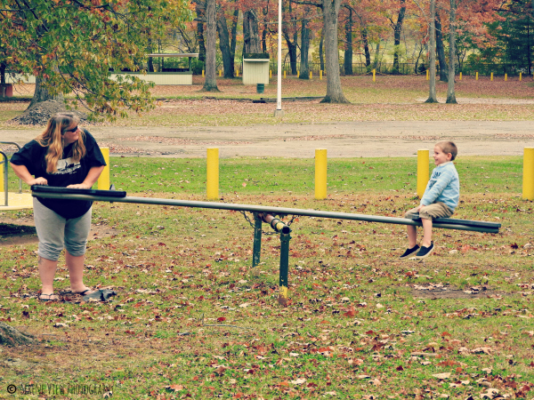 Logun & Mom On SeeSaw