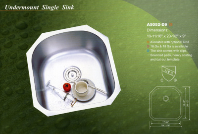 Alba Undermount Single Sink