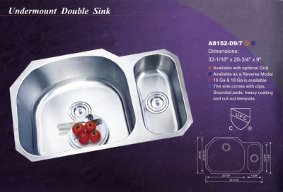 Alba Undermount Double Sink