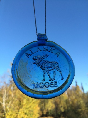 Alaska Glass - Alaska Moose Suncatcher