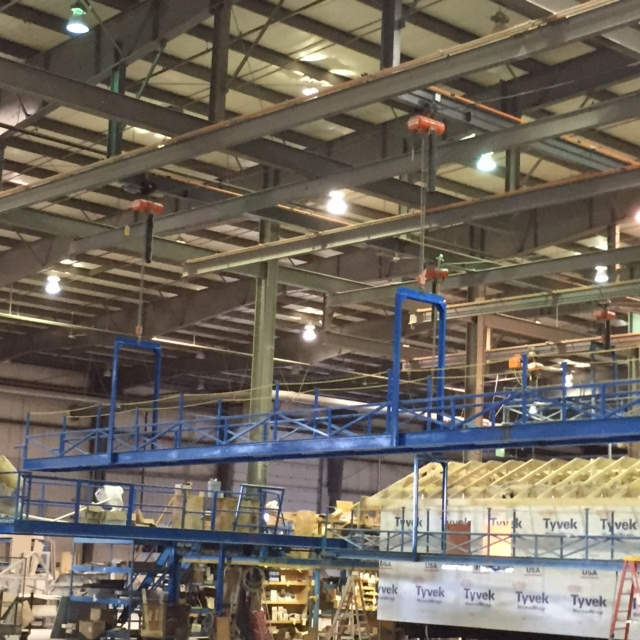 Crane Assisted Scaffolding we fabricated for our customer.