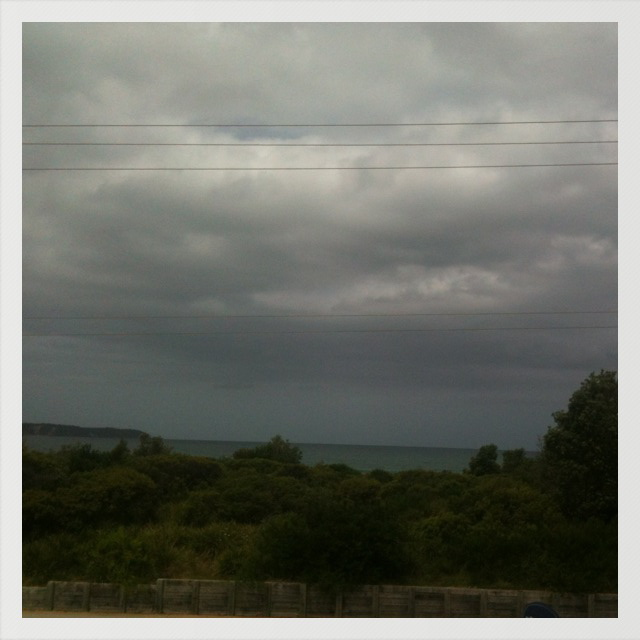 Storm clouds subsiding.