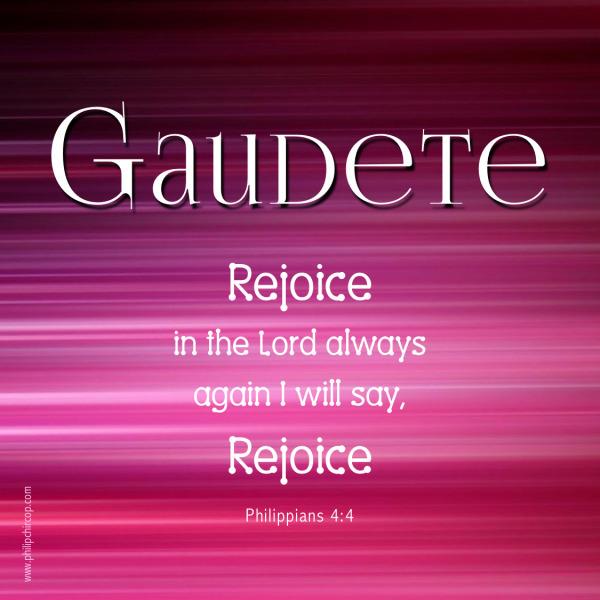 Gaudete Sunday 2017