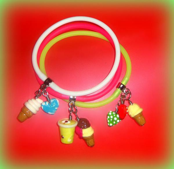Ice Cream Mania Polymer Clay - Gummy Rubber Bracelets
