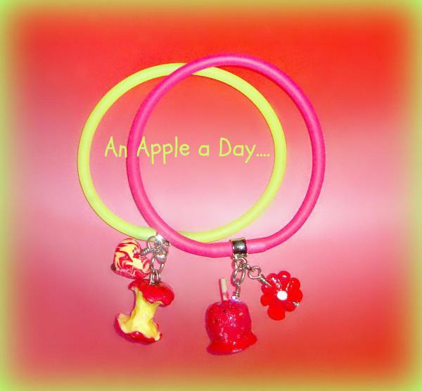 Apples Polymer Clay - Gummy Rubber Bracelets