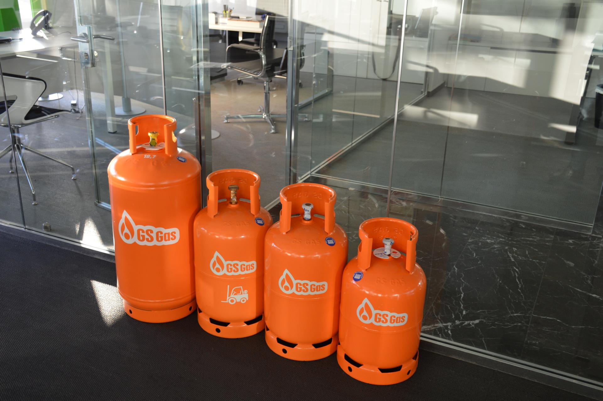 GS Gas Φιάλες Υγραερίου για την Επιχείρηση