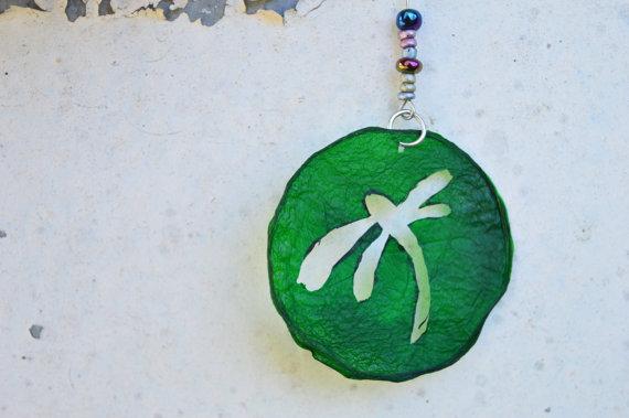 Green Dragonfly Earrings